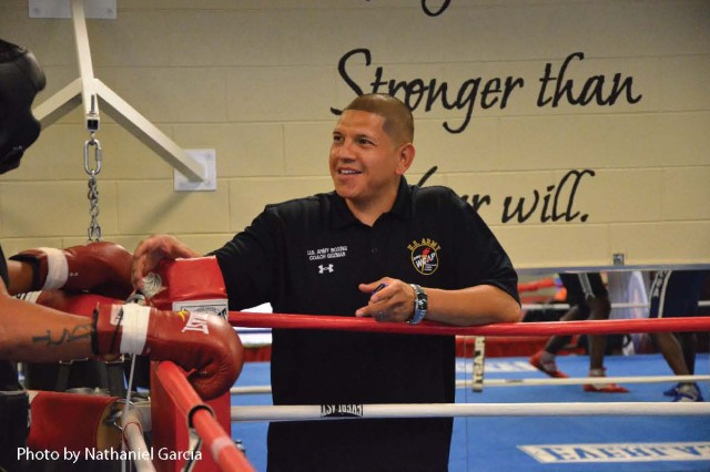 Staff Sgt. Joe Guzman is an assistant coach and former boxer in the U.S. Army World Class Athlete Program. He was named to the 2012 U.S. Olympic Team as a trainer and corner man.