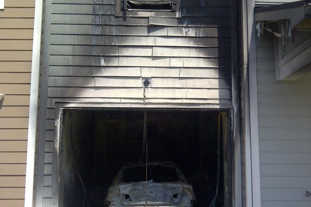 A fire broke out in the garage of a home on Bakers Court July 18. The damage caused by the fire forced to families to relocate to temporary housing until new permanent units can be provided in August.