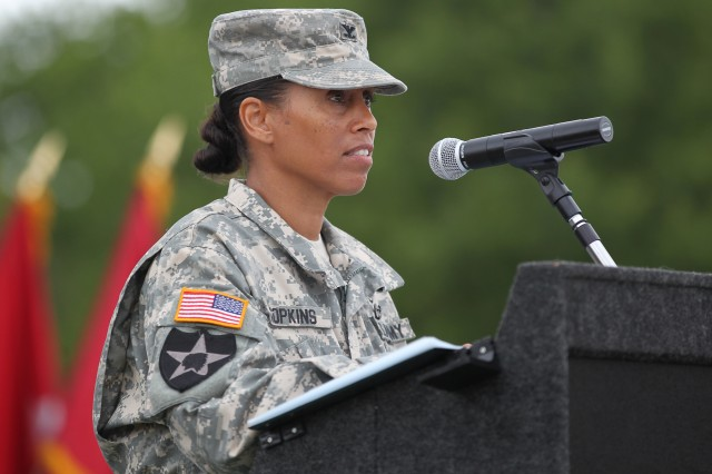 """You are a national treasure. I'm excited to be part of the team."" - Col. Yvette C. Hopkins, 902nd MI Group Commander"