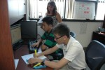 HIRED! teens gain IT experience filtering software at USASNEC