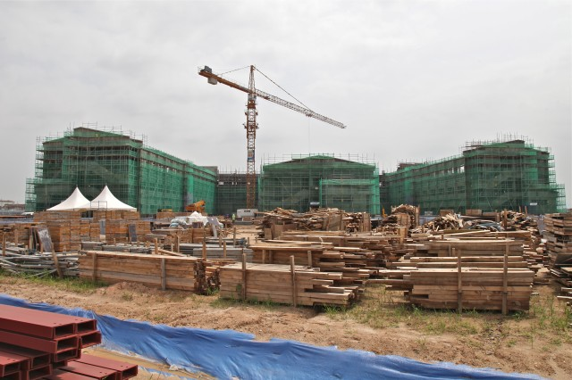 A new elementary school takes shape on Camp Humphreys, site of the largest construction and transformation project in the Department of Defense's history.