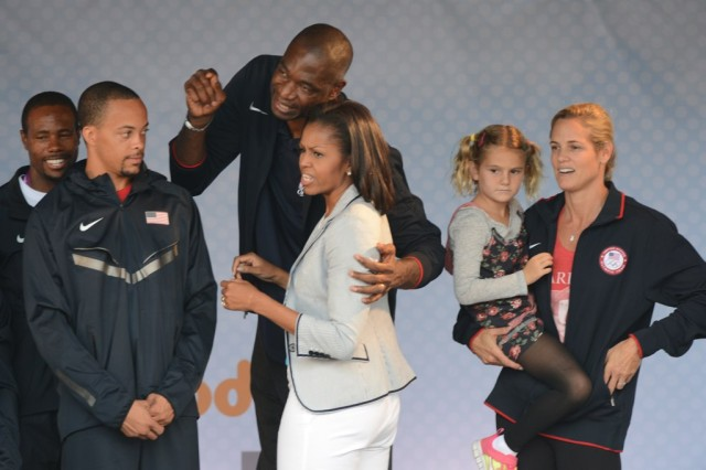 First Lady with sports legends