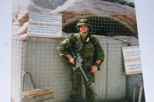 Cpl. Vitalis Dubininkas  in former Yugoslavia as part of Operation Joint Endeavor while serving in the Lithuanian Army in 1996.  Dubininkas participated in Operation River Assault 2012 and is currently the Team leader for 3rd Platoon, 316th Engineer Mobility Augmentation Company, 844th Engineer Battalion, 926th Engineer Brigade, 412th Theater Engineer Command.