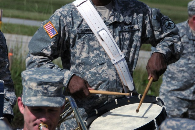 Staff Sgt. Hunter Gibbons of the 313th Army Band.