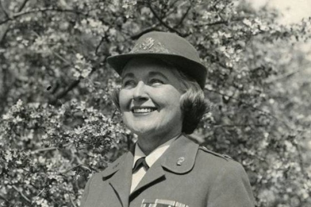 Col. Mary Louise Milligan Rasmuson served in the Army from 1942 to 1962, and was a member of the first Women's Army Corps, or WAC, class. President Eisenhower appointed her as the fifth commandant of the WAC in 1957, and she was subsequently reappointed by President Kennedy.