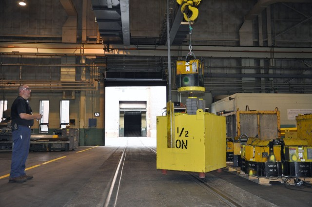 Glen Lavarnway certifying the load bearing weights of material handling equipment.