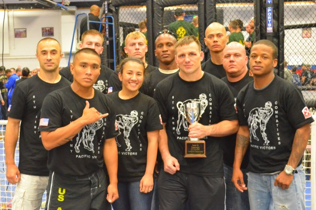 The Eighth Army team participates in the All Army Combatives Championship in Fort Hood, Texas.