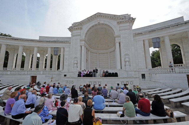 On the 70th anniversary of the Guadalcanal campaign which began Aug. 7, 1942, veterans of the  Pacific battle and their families gathered at Arlington National Cemetery, Va., to honor the Marines, Soldiers, Sailors and Coast Guardsmen who fought in the six-month campaign.