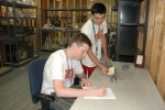 HIRED! teens gain cataloging experience at the Museum Support Building