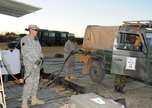 Illinois Army National Guardsmen fuel Southern Accord 2012