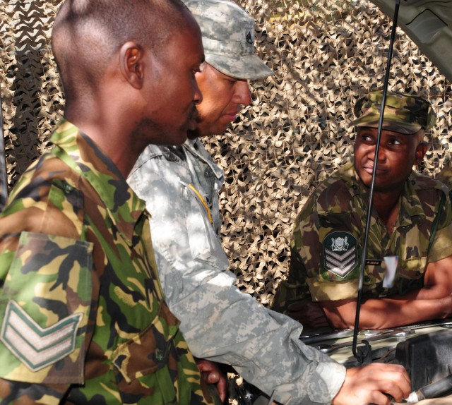 US and Botswana soldiers keep SA 12 rolling