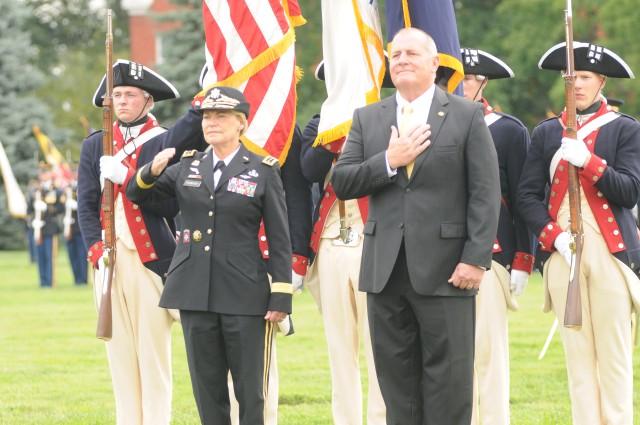 Gen. Ann E. Dunwoody salutes at retirment
