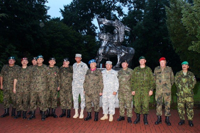 Generals from partner nations join in Legion of Merit ceremony and Polish Armed Forces day.