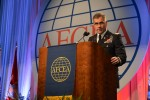 Col. Christopher S. Ballard, Army Cyber G-3, speaks at AFCEA