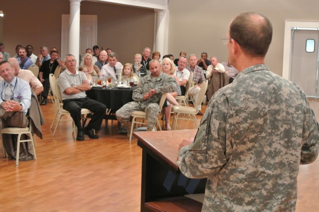 Anniston Army Depot's workforce celebrated the two-year tour of Col. Timothy Sullivan and wished him well in his retirement during a luncheon Aug. 8.