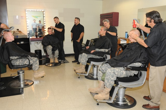 Haircuts are the order of the day at the reception station for every new Soldier arriving for Basic Combat Training at Fort Leonard Wood, Mo.