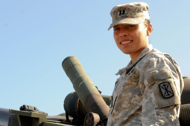 Capt. Christina Payne is the first female battery commander assigned to Headquarters and Headquarters Battery, 1st Battalion, 377th Field Artillery Regiment, 17th Fires Brigade. The Virginia Beach, Va., native has been in the Army for seven years and looks forward to progressing further in her career.