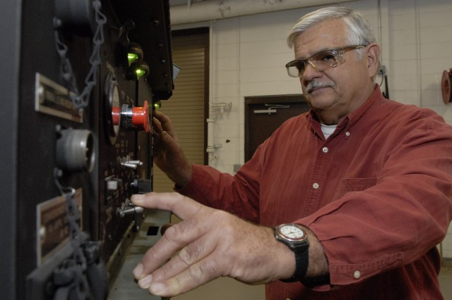 General Equipment Mechanic James Shahoney tests a 60kw generator at Tobyhanna Army Depot to prevent failure in the field.  Shahoney works in the depot's Systems Integration and Support Directorate.