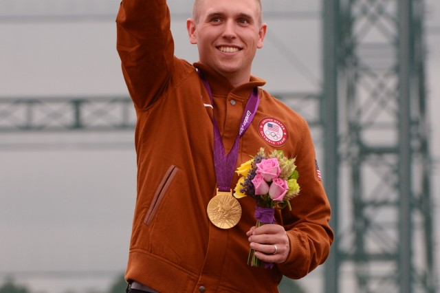 U.S. Army Marksmanship Sgt. Vincent Hancock became the first shotgun shooter to win consecutive Olympic gold medals in men's skeet at the Royal Artillery Barracks in London. Hancock, 23, of Eatonton, Ga., eclipsed his own records set at the 2008 Beijing Games for both qualification (123) and total (148) scores. He struck gold in China with a qualification score of 121 and total of 145. Hancock prevailed by two shots over silver medalist Anders Golding (146) of Denmark and by four shots over Qatar's Nasser Al-Attiya (144), who secured the bronze medal by winning a shoot-off against Russia's Valeriy Shomin.