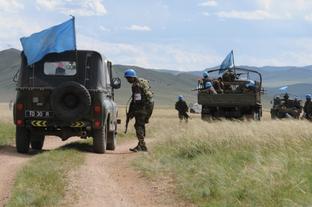 Multinational forces participate in field training exercise in Mongolia