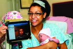 Fort Bragg Soldier witnesses daughter's birth on Skype