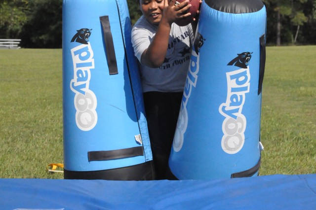 More than 100 children registered to take part in last Friday's Carolina Panthers Play 60, which put them through a series of football-related exercises created by the Carolina Panthers football organization