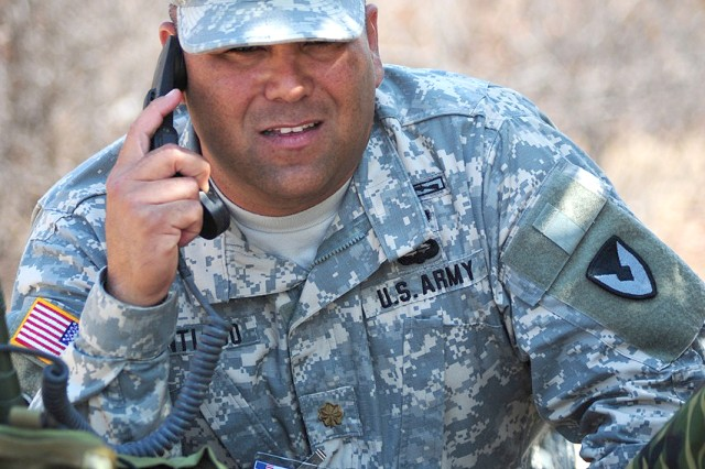 Maj. Guillermo J. Santiago, 414th Contracting Support Brigade contracting officer, keeps in constant communications with area vendors and those supported military forces.