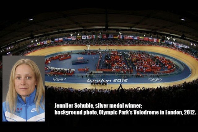 Former U.S. Army Military Academy cadet Jennifer Schuble won a silver medal at the 2012 Paralympics in London.