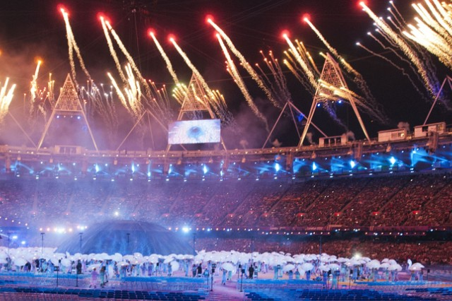 It was a great celebration during the opening ceremony. Fireworks and spectacular performances