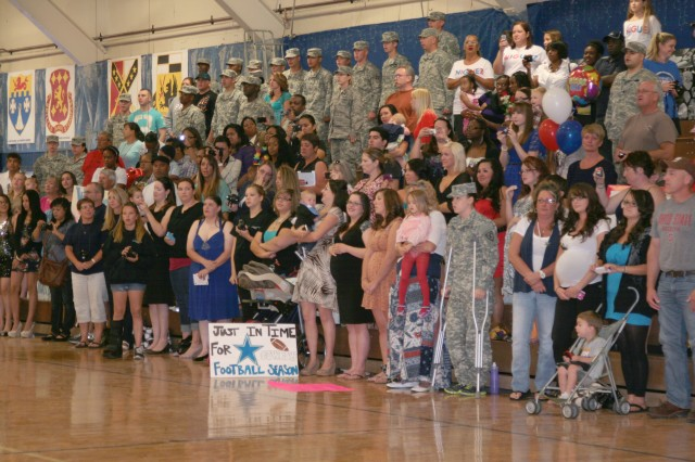 FORT CARSON, Colo. -- Family members and friends prepare to welcome home their Soldiers Sept. 5 at the Special Events Center.