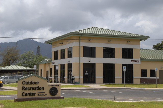 The new Directorate of Family and Morale, Welfare and Recreation's Outdoor Recreation facility at Schofield Barracks, Hawaii, features nearly double the floor and office space it had to accomodate rapidly expanding programs.