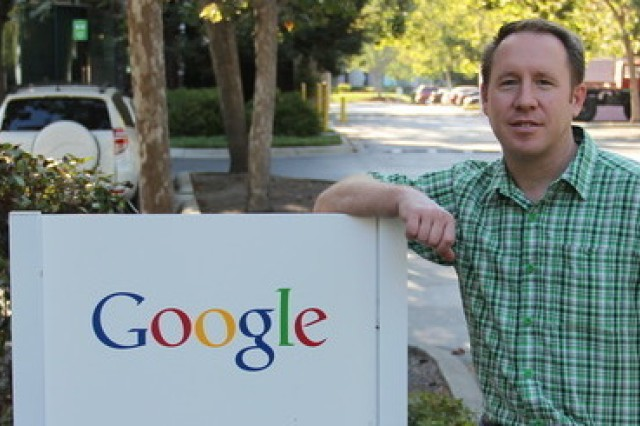 Maj. Matthew Bisswurm, plans and operations officer with the 903rd Contingency Contracting Battalion, was selected for a position at Google, Inc., as part of the Army's Training with Industry Program.