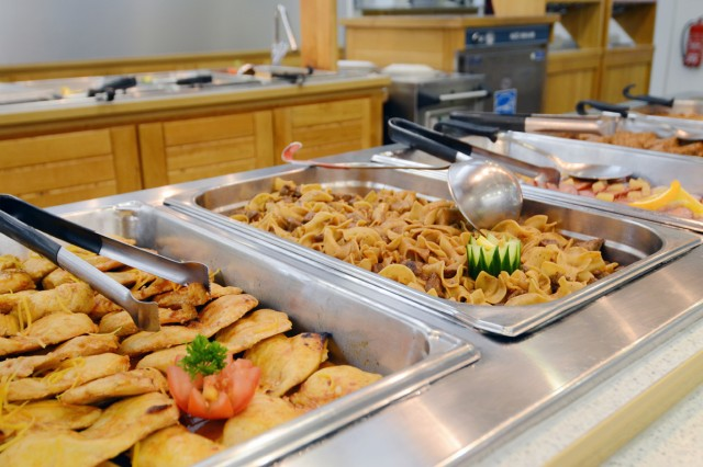 "Healthy options now abound at the DFAC through a new initiative called ""Go for Green,"" which urges dining facilities to offer more low-calorie, high-energy foods to patrons."