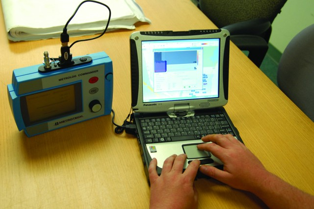 Wireless devices are used in conjunction with leak detection sensors at Tobyhanna Army Depot, Pa., to conserve water.  The devices can store data for up to 60 days before being downloaded for analysis.