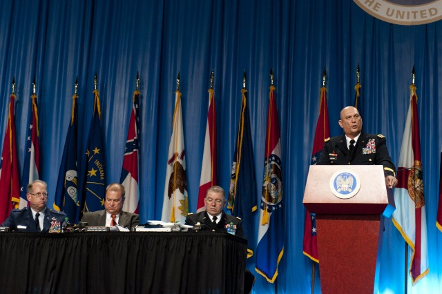 U.S. Army Chief of Staff Gen. Raymond T. Odierno speaks and answers questions during the National Guard Association of the United States Convention  in Reno, NV. September 10, 2012. (U.S. Army photo by Sgt. Steve Cortez/ Released)