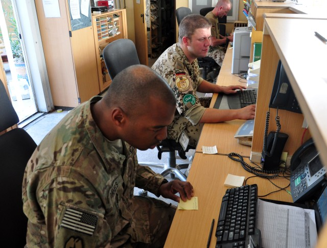 Sustainers work with German counterparts to accomplish mission
