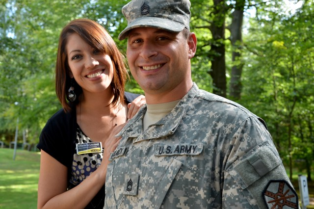 Sgt. 1st Class Danny Licciardi and his wife Charlene were recently recognized for having saved the life of a Soldier who had attempted suicide.