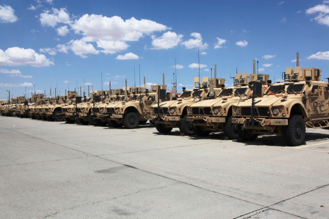 Soldiers, engineers, combat developers and test officials integrate network equipment onto various vehicle platforms and validate system performance at the Integration Motor Pool, located at Fort Bliss, Texas, in preparation for NIE 13.1, the fourth iteration in a series of semi-annual field exercises designed to further integrate and mature the Army's tactical network, and accelerate the way network technologies are delivered to Soldiers.