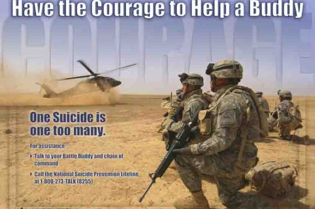 The Army will conduct an Army-wide Suicide Prevention Stand Down, Sept. 27, 2012, to focus on promoting good health, teammate involvement, risk reduction and resilience training.