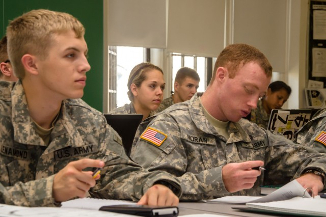 West Point cadets study advanced physics in Dave Kashinski's class, Sept. 11, 2012.