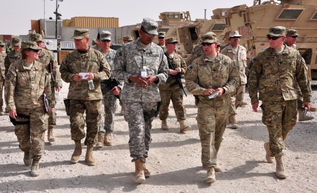 JSC-A briefs Third Army/ARCENT commanders on redeployment process