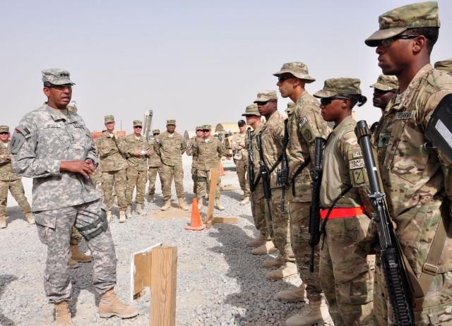 JSC-A briefs Third Army/ARCENT commander on redeployment process
