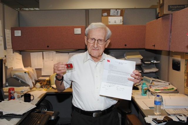 Corps' oldest employee to retire at 90 years of age