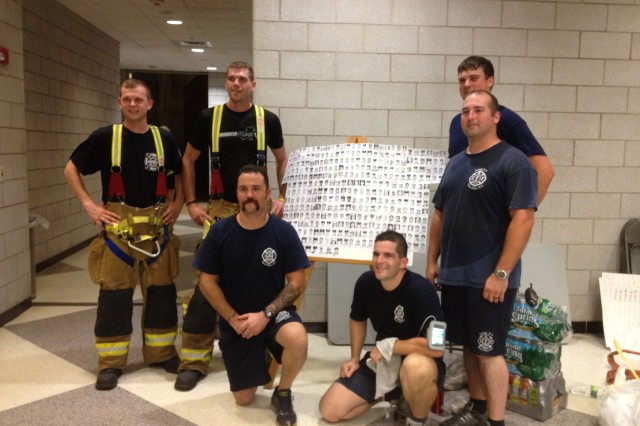 More than 60 participants were at Arvin Cadet Physical Development Center Sept. 14 for the 9/11 Memorial Stair Climb. Cadets raised more than $1,000 for the National Fallen Firefighters Foundation.