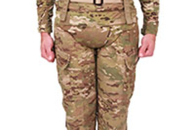The Pelvic Protection System is in response to an increased threat of buried improvised explosive devises, providing protection from serious injuries to the pelvis, femoral arteries and lower abdominal organs in a blast or small fragmentation threat. It aids in protection against sand and debris injected into the wounds sustained from IEDs, which may result in complications and significant chance of infection. The Navy and Air Force have inquired about procuring on future contracts.