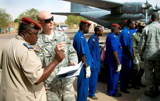 USARAF coordinates transportation training in Burkina Faso
