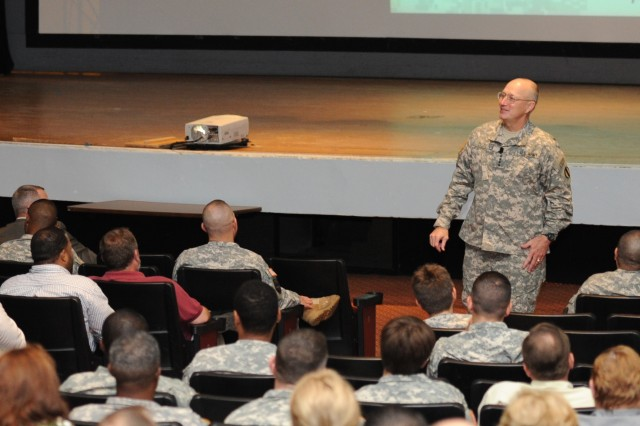 Gen. Robert W. Cone, commanding general of U.S. Army Training and Doctrine Command, discusses TRADOC's progress on command initiatives, Army-wide areas of concern and facility upgrades on Fort Eustis, Va.