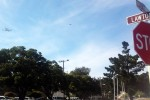 Space Shuttle Endeavour flies over of Presidio of Monterey
