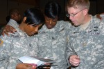 Fort Hood WTB gatekeepers learning suicide intervention skills with ASIST workshop