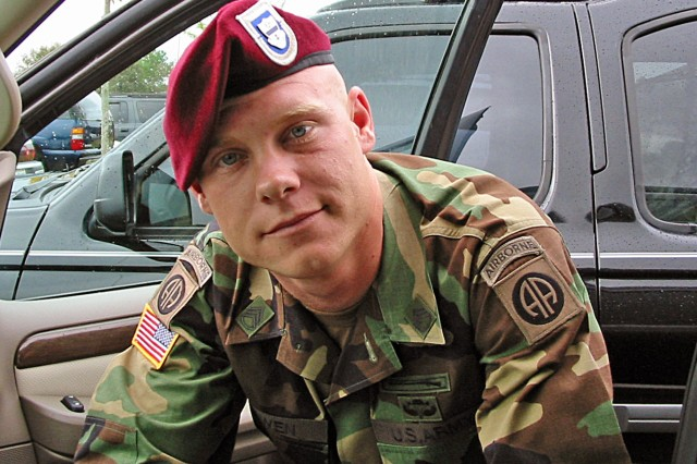 """FORT SAM HOUSTON, Texas - Staff Sgt. Clayton Bowen, an 82nd Airborne combat veteran, deployed to Afghanistan in February 2009 with the 1st Battalion, 501st Parachute Infantry Regiment, 4th Brigade Combat Team (Airborne), 25th Infantry Division. Bowen was riding in a humvee with four of his fellow """"Spartan Brigade"""" Soldiers Aug. 18, 2009, on his way to provide security for Afghanistan's presidential election when the vehicle hit an IED. Fort Sam Houston will honor Gold Star Mothers and Families as well as hold a ribbon-cutting ceremony Sept. 29 for the new Survivor Outreach Center. (Contributed photo)"""